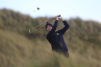 Rian Carvill (Warrenpoint) on the 13th tee during Round 3 of the Ulster Boys Championship at Portrush Golf Club, Portrush, Co. Antrim on the Valley course on Thursday 1st Nov 2018.<br /> Picture:  Thos Caffrey / www.golffile.ie<br /> <br /> All photo usage must carry mandatory copyright credit (&copy; Golffile | Thos Caffrey)