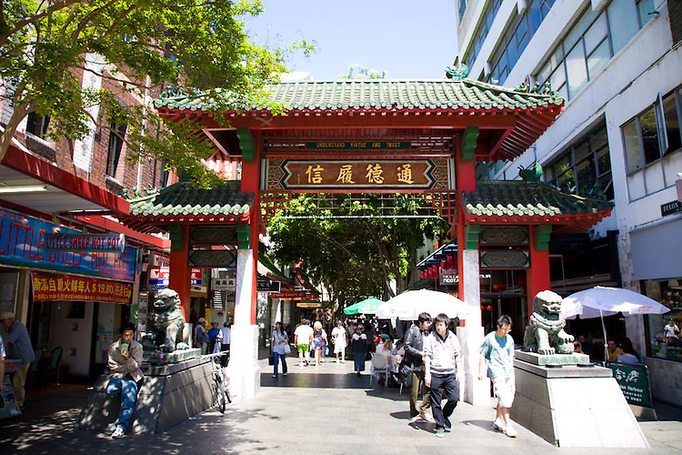 The gates to Chinatown, Sydney