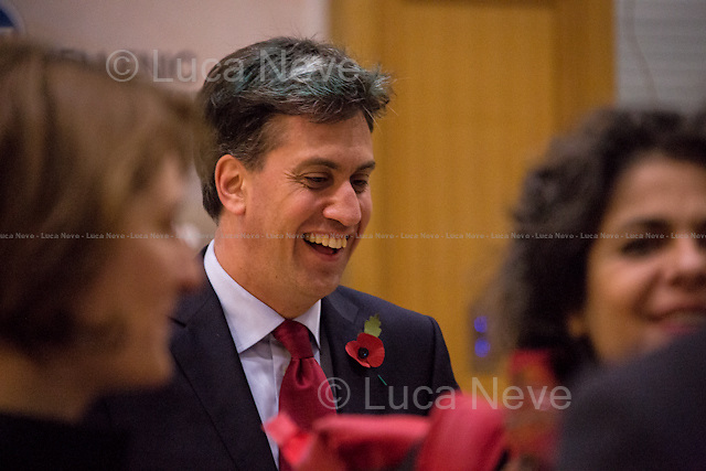 Ed Miliband MP (British Labour Party Member of Parliament for Doncaster North; former Leader of the British Labour Party and Leader of the Opposition between 2010 and 2015).<br /> <br /> London, 10/11/2015. Today, the LSE (London School of Economics and Political Studies) presented a public lecture - part of the LSE Hellenic Observatory public lecture - called &quot;Economic Blues: The Left in Government Times&quot; hosted by Euclid Tsakalotos (Greek Minister of Finance; Syriza Politician; left-wing Greek economist; he has been the Minister of Finance in the Second Cabinet of Alexis Tsipras since 23 September 2015; he previously served as the Minister of Finance in the First Cabinet of Alexis Tsipras from 6 July 2015, following Yanis Varoufakis's resignation, to the 28 August 2015, when a caretaker cabinet was appointed before the September 2015 legislative election; he studied economics at the universities of Oxford and Sussex; he was Professor at the University of Kent, the Athens University of Economics and Business and is currently a professor of economics at the University of Athens). Chair of the event was Professor Kevin Featherstone (Director of the LSE Hellenic Observatory Director). From the event online page: &lt;&lt; What are the prospects of the Left in government after the summer agreement? Can that agreement be incorporated into a political strategy that furthers social justice and a different economic model? Can Greece act as catalyst for wider progressive changes in the Eurozone and the EU?&gt;&gt;.<br /> <br /> Here there is the link to podcast and video of the lecture: http://bit.ly/1HCiq2D