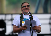 EL DIAMANTE -LLANOS DEL YARI-COLOMBIA , 17-09-2016. El máximo comandante de las FARC  Timochenko  durante su discurso dirigido a los   guerrilleros de las FARC que asisten al  Decima Conferencia de las Farc  . / FARC members attending the Tenth Conference of the FARC  Photo:VizzorImage / Iván Valencia  / Contribuidor