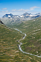 Memurudalen and mountains of Jotunheimen national park, Norway