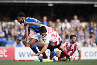 Jordan Roberts of Ipswich Town tangles with Luke O'Nien of Sunderland during Ipswich Town vs Sunderland AFC, Sky Bet EFL League 1 Football at Portman Road on 10th August 2019
