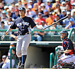 8 March 2011: New York Yankees' catcher Jesus Montero in action during a Spring Training game against the Atlanta Braves at Champion Park in Orlando, Florida. The Yankees edged out the Braves 5-4 in Grapefruit League action. Mandatory Credit: Ed Wolfstein Photo