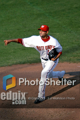 21 July 2007: Washington Nationals pitcher Luis Ayala on the mound against the Colorado Rockies at RFK Stadium in Washington, DC. The Nationals defeated the Rockies 3-0 in the third game of their 4-game series...Mandatory Photo Credit: Ed Wolfstein Photo