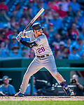 30 July 2017: Colorado Rockies third baseman Nolan Arenado in action against the Washington Nationals at Nationals Park in Washington, DC. The Rockies defeated the Nationals 10-6 in the second game of their 3-game weekend series. Mandatory Credit: Ed Wolfstein Photo *** RAW (NEF) Image File Available ***
