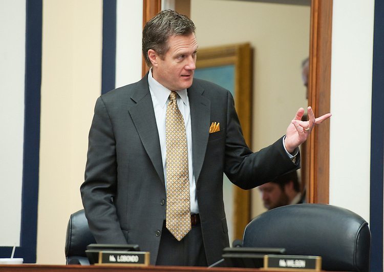 "UNITED STATES - MARCH 01:  Rep. Mike Turner, R-Ohio, talks with Chairman Buck McKeon, R-Calif., off camera, before a House Armed Services Committee hearing in Rayburn entitled ""FY2013 National Defense Authorization Budget Request from U.S. Pacific Command."" (Photo By Tom Williams/CQ Roll Call)"