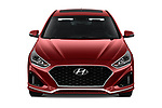Car photography straight front view of a 2019 Hyundai Sonata Sport 4 Door Sedan