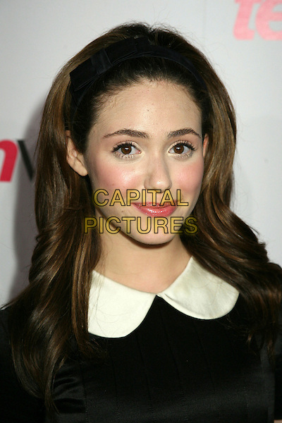 "EMMY ROSSUM.At Teen Vogue's ""Young Hollywood"" Issue Party at the Sunset Tower Hotel, West Hollywood, California, .USA, 20 September 2006..portrait headshot black hairband alice hair band dress white cream collar.Ref: ADM/BP.www.capitalpictures.com.sales@capitalpictures.com.©Byron Purvis/AdMedia/Capital Pictures."