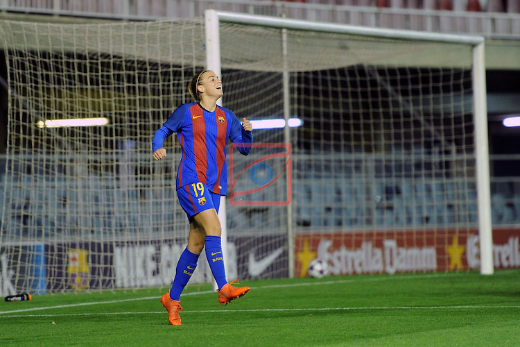 UEFA Women's Champions League 2016/2017.<br /> Round of 16 - First Leg<br /> FC Barcelona vs Twente: 1-0.<br /> Barbara Latorre.
