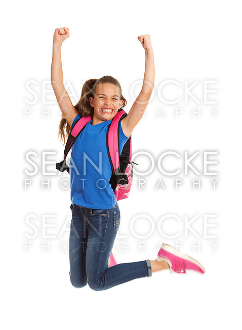 School:School: Girl Jumping High In The Air