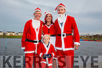 Enjoying the Santa 5km run in memory of Fiona Moore in aid of Heart Children Ireland at the Tralee Wetlands were l-r  Pascal Boylan, Kerry Ann Clifford, Gearoid Clifford and Jayden Collins