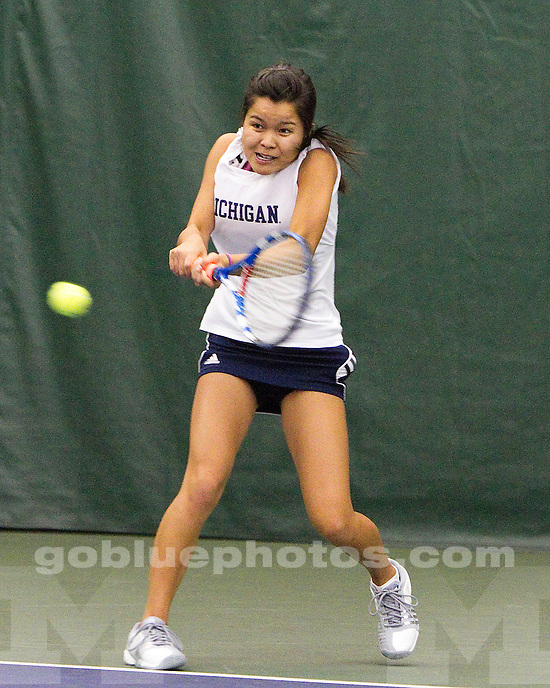 University of Michigan women's tennis 7-0 victory over University of South Florida at the Varsity Tennis Center in Ann Arbor, MI, on March 18, 2011.