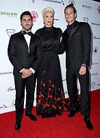 06 October 2018 - Beverly Hills, California - Mattia Dessi, Brigitte Nielsen, Douglas Meyer. 2018 Carousel of Hope held at Beverly Hilton Hotel. <br /> CAP/ADM/BT<br /> &copy;BT/ADM/Capital Pictures