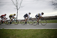 race finale with Peter Sagan (SVK/Tinkoff), Fabian Cancellara (SUI/TREK-Segafredo), Sep Vanmarcke (BEL/LottoNL-Jumbo) &amp; Viacheslav Kuznetsov (RUS/Katusha) fighting for the honours<br /> <br /> 78th Gent - Wevelgem in Flanders Fields (1.UWT)