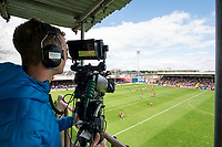 Picture by Allan McKenzie/SWpix.com - 22/04/2018 - Rugby League - Ladbrokes Challenge Cup - York City Knight v Catalans Dragons - Bootham Crescent, York, England - BBC live stream the match between York and Catalans.
