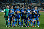 Getafe´s initial players before 2014-15 La Liga match at Alfonso Perez Coliseum stadium in Madrid, Spain. March 16, 2015. (ALTERPHOTOS/Victor Blanco)