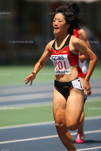 Anna Doi (Asaka-Daiichi), .AUGUST 24, 2009 - Athletics : .36th National Junior High School Athletics Championships Women's 100m at Oita Kyushu Sekiyu Dome in Oita, Japan. (Photo by Daiju Kitamura/AFLO SPORT)
