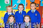 Kilmurry NS, Cordal junior infants all smiles on Tuesday l-r: Aimee Browne, Ellie Mai Walsh. Back row: Joel Smith, Rebecca Murphy and David Breja..