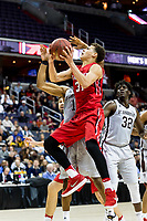 Washington, DC - MAR 10, 2018: Davidson Wildcats guard Kellan Grady (31) goes up for a lay up during semi final match up of the Atlantic 10 men's basketball championship between Davidson and St. Bonaventure at the Capital One Arena in Washington, DC. (Photo by Phil Peters/Media Images International)
