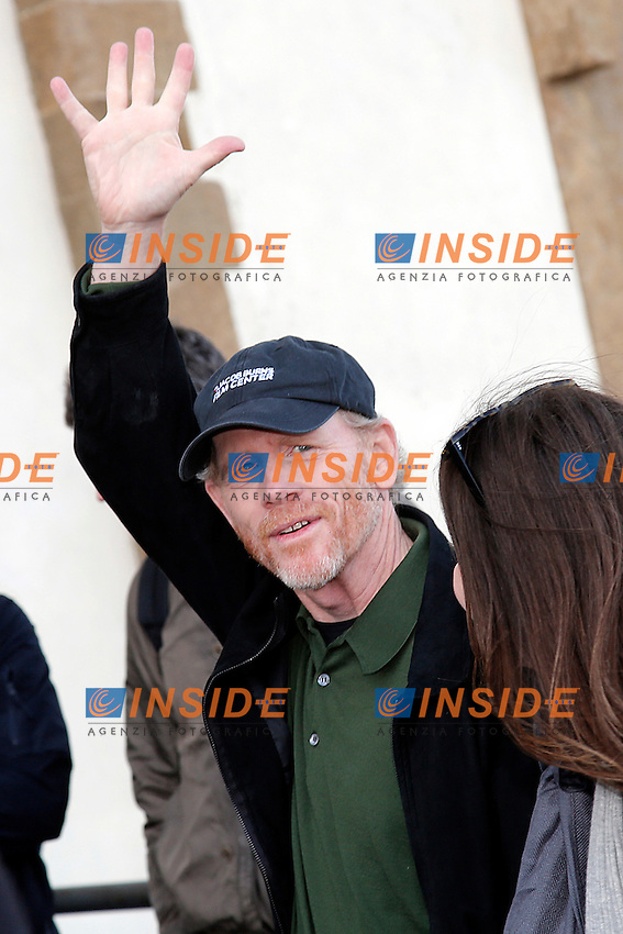 Ron Howard<br /> Firenze 07-10-2016. Photocall del film 'Inferno' a Forte Belvedere, con il panorama della citta' di Firenze<br /> Florence 7th October 2016. 'Inferno' Photocall at Forte Belvedere. In the background the panorama of Florence.<br /> Foto Samantha Zucchi Insidefoto