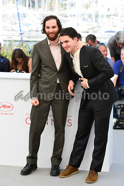 """25 May 2017 - Cannes, France - Josh Safdie, Benny Safdie. """"Good Time"""" Photocall - The 70th Annual Cannes Film Festival. Photo Credit: Jan Sauerwein/face to face/AdMedia"""