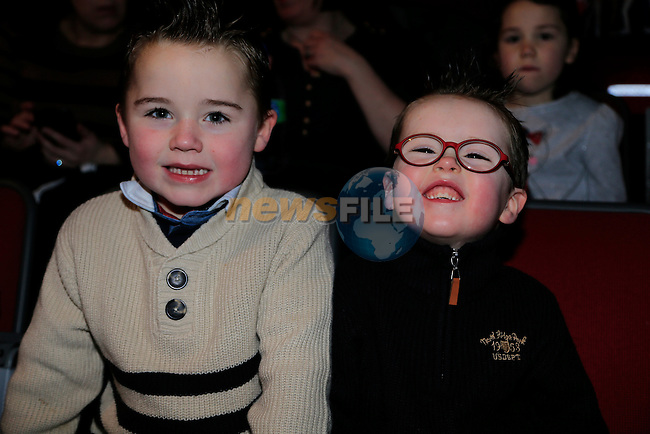 Oisin and Liam Lynch at the  Peter Pan Panto int eh TLT.<br /> Picture: Fran Caffrey www.newsfile.ie