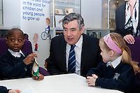 Prime Minister Gordon Brown visits DCSF Sanctuary Buildings