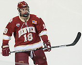 Emil Romig (DU - 18) - The Boston College Eagles defeated the University of Denver Pioneers 6-2 in their NCAA Northeast Regional semi-final on Saturday, March 29, 2014, at the DCU Center in Worcester, Massachusetts.