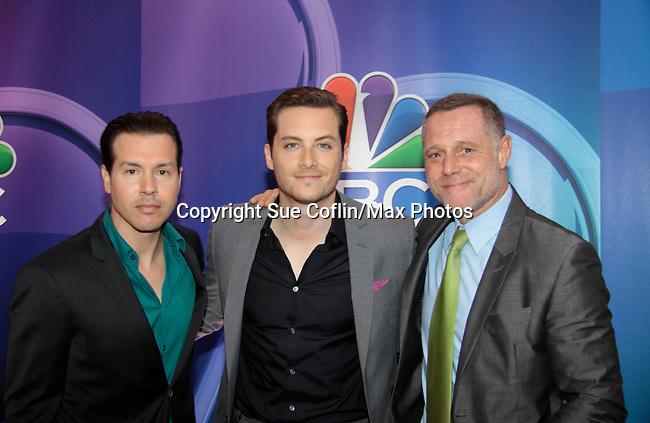 Jon Seda - Jesse Lee Sofer - Jason Beghe - Chicago P.D.- NBC Upfront at Radio City, New York City, New York on May 11, 2015 (Photos by Sue Coflin/Max Photos)
