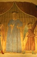 Italien, Toskana, Monterchi, Madonna del Parto von Piero della Francesca 1460