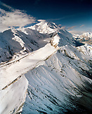 USA, Alaska, snowcapped Mount McKinley and the Denali range