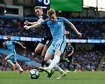 Leroy Sane of Manchester City has a shot on goal during the English Premier League match at the Etihad Stadium, Manchester. Picture date: May 16th 2017. Pic credit should read: Simon Bellis/Sportimage