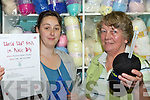"KNITTING DAY: Orla Breslin, Oakpark and Helen O'Shea from the Knitting centre, Tralee shopping mall are promoting a knitting event that is being held in Muckross gardens on Saturday as part of the ""World Wide Knit in Public Day"".   Copyright Kerry's Eye 2008"