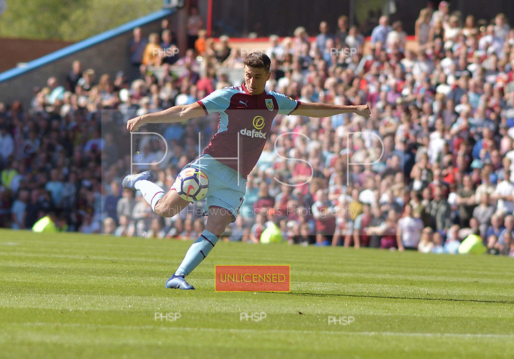 13/05/2018 Premier League Burnley v AFC Bournemouth<br /> <br /> Matthew Lowton shoots