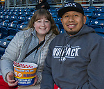 Natasha Young and Luis Nery during the Reno Aces vs Nevada Wolf Pack baseball game at Greater Nevada Field in downtown Reno, Nevada on Tuesday, April 2, 2019.