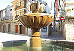 Water fountain in village centre of Jarandilla de la Vera, La Vera, Extremadura, Spain
