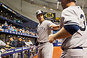 Alex Rodriguez (Yankees),<br /> APRIL 18 2015 - MLB : Alex Rodriguez (L) of the New York Yankees during the Major League Baseball game against the Tampa Bay Rays at Tropicana Field in Tampa, Florida, United States.<br /> (Photo by Thomas Anderson/AFLO) (JAPANESE NEWSPAPER OUT)