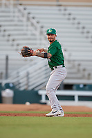 Daytona Tortugas third baseman Jonathan India (6) throws to first base during a Florida State League game against the Palm Beach Cardinals on April 11, 2019 at Roger Dean Stadium in Jupiter, Florida.  Palm Beach defeated Daytona 6-0.  (Mike Janes/Four Seam Images)