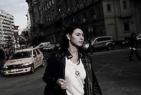 ROMANIA / Bucharest /25.11.2009 / Street scene in the center. © Davin Ellicson / Anzenberger