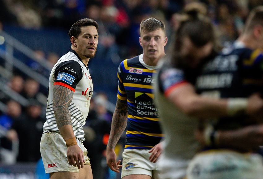 Toronto Wolfpack's Sonny Bill Williams in action<br /> <br /> Photographer Alex Dodd/CameraSport<br /> <br /> Betfred Super League Round 6 - Leeds Rhinos v Toronto Wolfpack - Thursday 5th March 2020 - Headingley - Leeds<br /> <br /> World Copyright © 2020 CameraSport. All rights reserved. 43 Linden Ave. Countesthorpe. Leicester. England. LE8 5PG - Tel: +44 (0) 116 277 4147 - admin@camerasport.com - www.camerasport.com