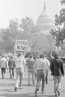 "Demonstrators in Washington, DC, with sign ""Impeach Nixon."", 22 October 1973<br /> <br /> PHOTO : Marion S. Trikosko or Thomas J. O'Halloran"