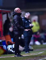 Yeovil Town manager Darren Way shouts instructions to his team from the technical area<br /> <br /> Photographer Andrew Vaughan/CameraSport<br /> <br /> The EFL Sky Bet League Two - Lincoln City v Yeovil Town - Friday 8th March 2019 - Sincil Bank - Lincoln<br /> <br /> World Copyright © 2019 CameraSport. All rights reserved. 43 Linden Ave. Countesthorpe. Leicester. England. LE8 5PG - Tel: +44 (0) 116 277 4147 - admin@camerasport.com - www.camerasport.com