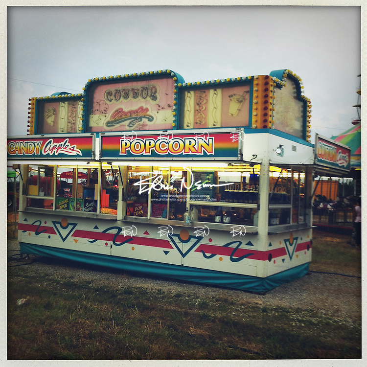 A concession stand at a carnival in Oxford, Miss. on May 25, 2011. .Photo taken with an IPhone 4 using a Polaroid app. .©2011 Bruce Newman