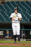 Montgomery Biscuits first baseman Cameron Seitzer (33) at bat during a game against the Mississippi Braves on April 21, 2014 at Riverwalk Stadium in Montgomery, Alabama.  Montgomery defeated Mississippi 6-2.  (Mike Janes/Four Seam Images)