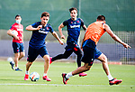 UD Levante's Enis Bardhi, Ivan Lopez and Oscar Duarte during training session. May 28,2020.(ALTERPHOTOS/UD Levante/Pool)