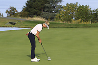 Ryan O'Toole (USA) putts on the 5th green during Thursday's Round 1 of The Evian Championship 2018, held at the Evian Resort Golf Club, Evian-les-Bains, France. 13th September 2018.<br /> Picture: Eoin Clarke | Golffile<br /> <br /> <br /> All photos usage must carry mandatory copyright credit (© Golffile | Eoin Clarke)