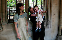 David Cameron and his wife Samanatha at the christening of their 15 month old son Arthur Elwen at St Marys Abbot church in Central London, Sunday July 1, 2007. Photo By Andrew Parsons/Press Association