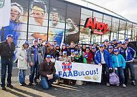 09-02-13, Tennis, Rotterdam, qualification ABNAMROWTT, Bus met van der Lans supporters