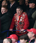 A Liverpool fan during the premier league match at Goodison Park Stadium, Liverpool. Picture date 7th April 2018. Picture credit should read: Robin Parker/Sportimage