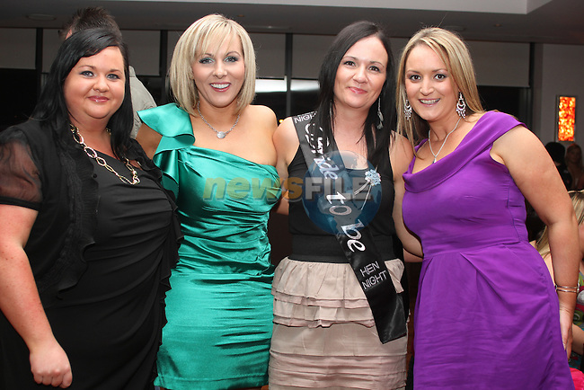 Susan Carolan with her bridesmaids, Lisa Carolan, Tracey Taaffe and Tanya Sherlock Carter at her Hen in Bru...Picture Jenny Matthews/Newsfile.ie
